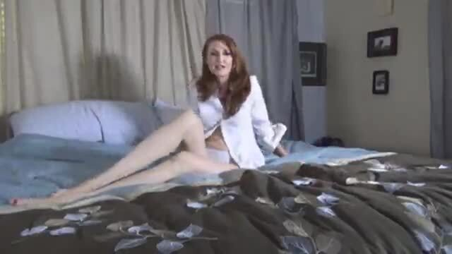 The redhead masturbates for you