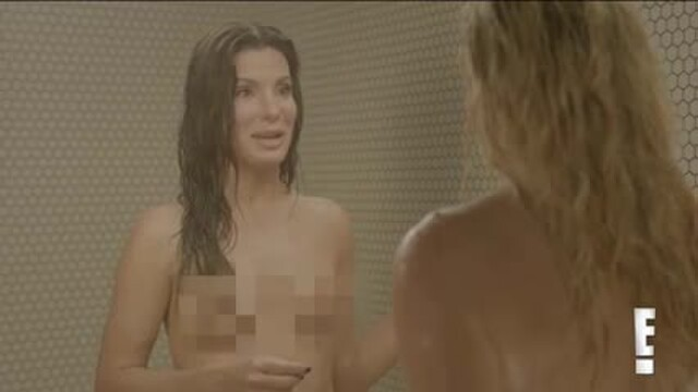 Sandra Bullock and Chelsea Lately in the shower