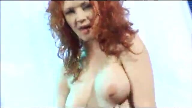 Dirty redhead with two dudes