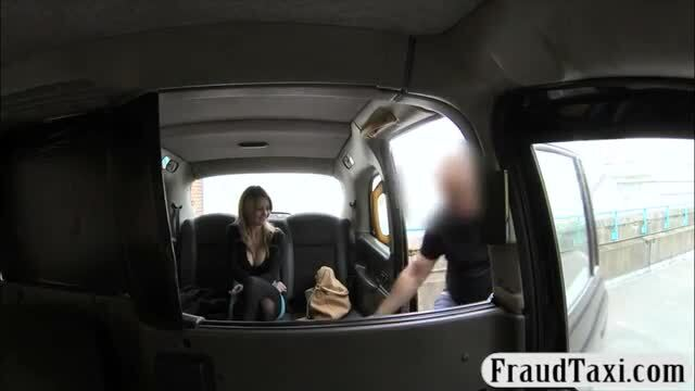 Hot blonde babe ass fucked in the cab