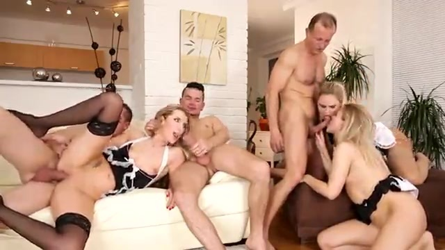Three blonde whores eager to please three friends