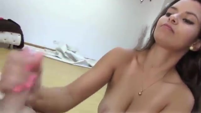 The Spanish woman means business when jerking off someone