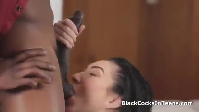 Her mother cheers her up with black cock