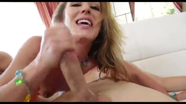 Fucking slut dips dick in saliva