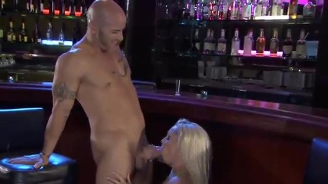A blonde MILF fucks a young man