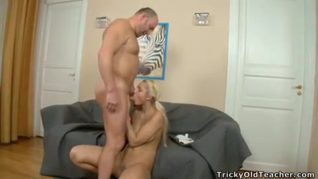 An older man fucks his sexy stepdaughter