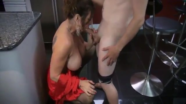 Horny mom fucking in the kitchen