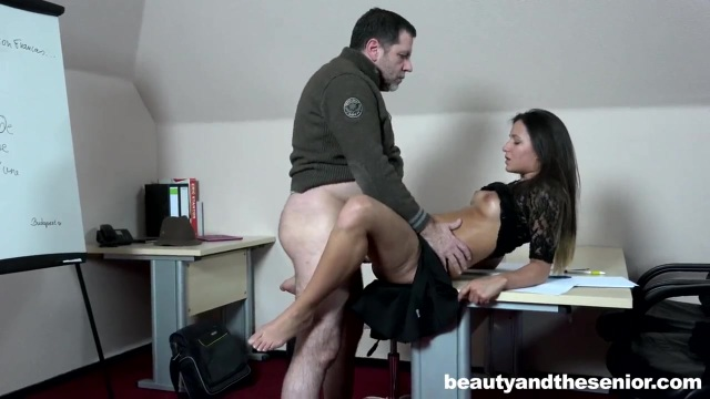 This secretary loves to get dirty