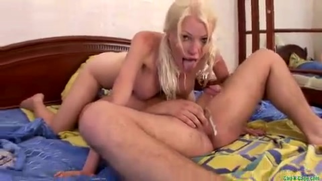 A young woman has her mouth and ass pounded