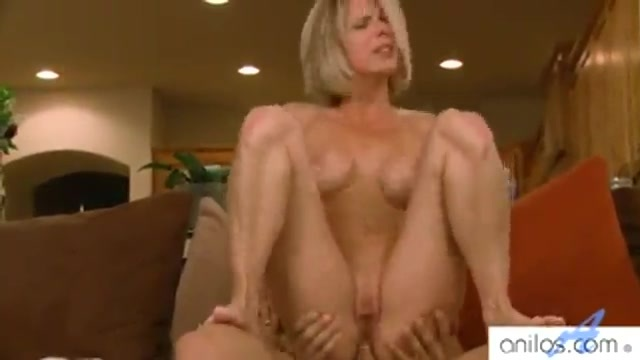 The mature blonde's three holes