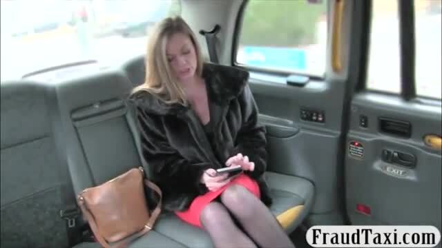 Busty passenger drilled to off her fare