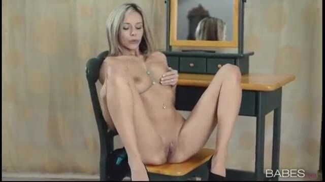 A beautiful young amateur masturbates