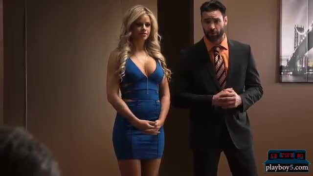 Shark tank parody becomes hot threesome on the set