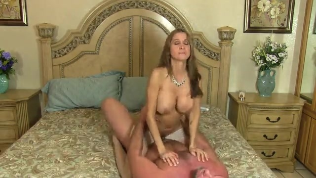 MILF sucking and fucking her husband