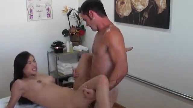 The female masseuse alleviates the tension in his balls