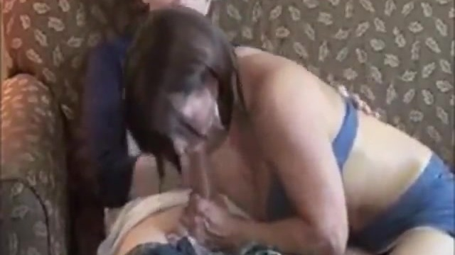 Amateur couple fucks while a friend films it