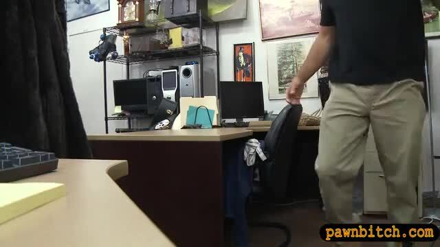 Small tits babe banged in the pawnshop