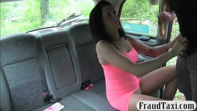Pierced clit babe drilled by the driver