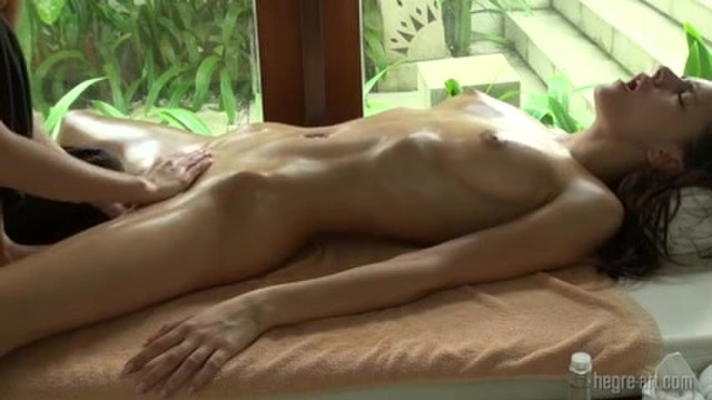 Climax in a sensual massage