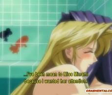Anime lesbians in shower