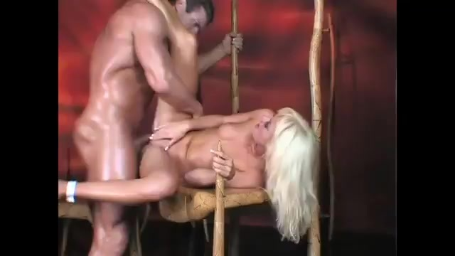 A loud blonde gets fucks by her pimp