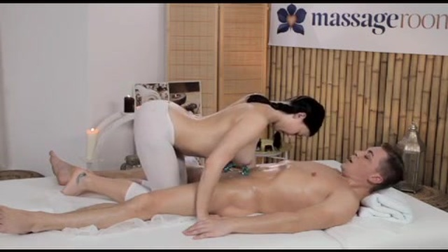 A young masseuse gets fucked hard