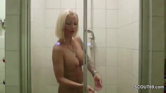 Mom caught in shower