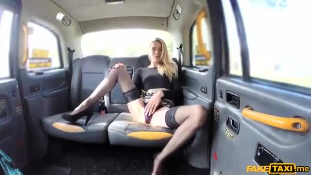 Euro blonde gives a nice footjob and fucked outdoors