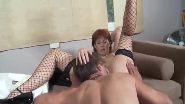 Stockinged sex after a hard workday