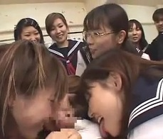 Asian girls punished
