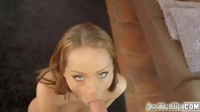 A blue-eyed babe gets anal in POV