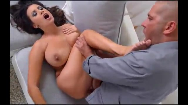 Foot lover fucks a busty woman