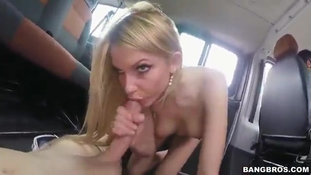 Spanish dude fucks a blond woman in the fuckvan