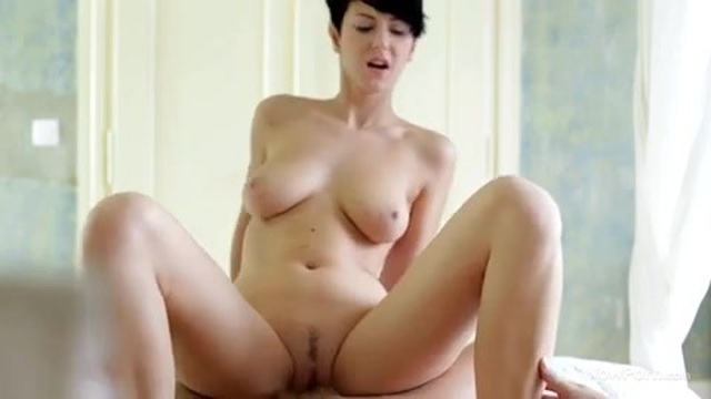 Sweet sex with a brunette with short hair