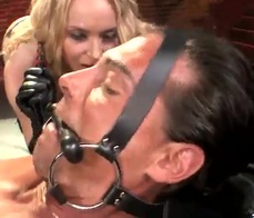 This blonde likes domination