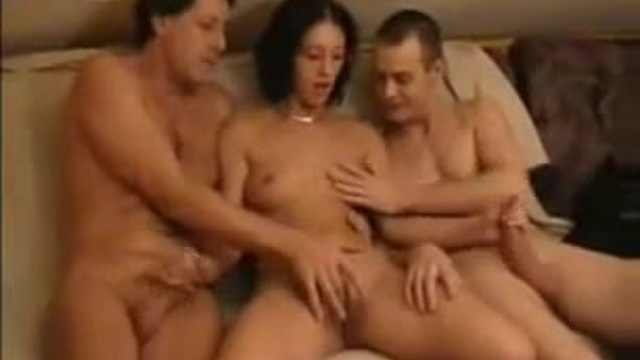 Older women with young men threesome
