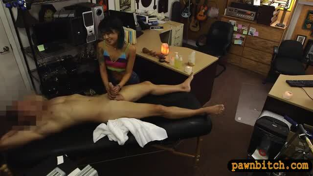 Tiny asian babe pounded at the pawnshop
