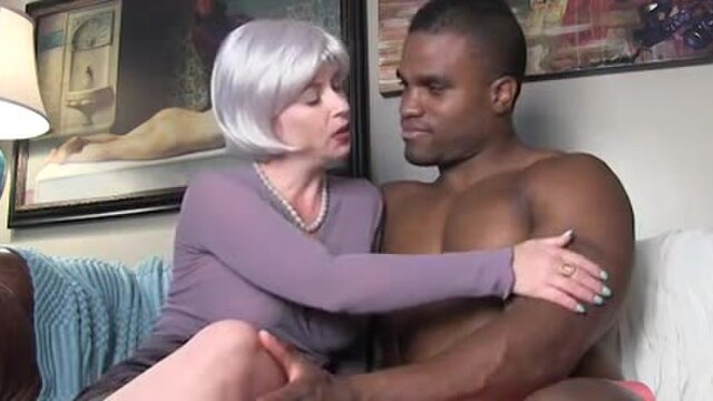 Black hunk cums on the snooty English woman
