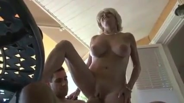 Busty mature woman fucking and smoking