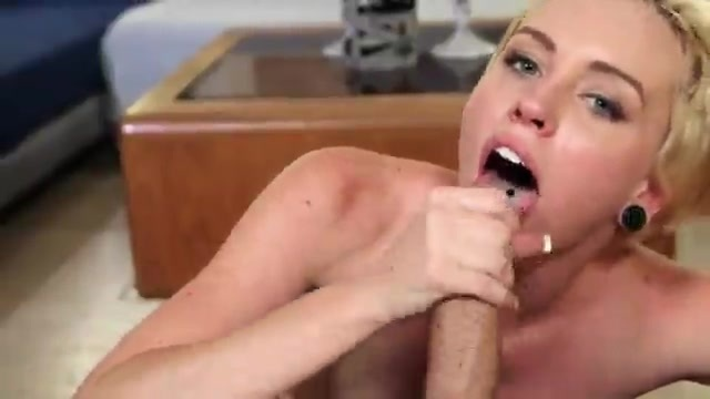 This blonde is starving for cock