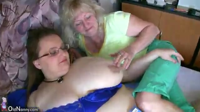 A fat older woman looks for action