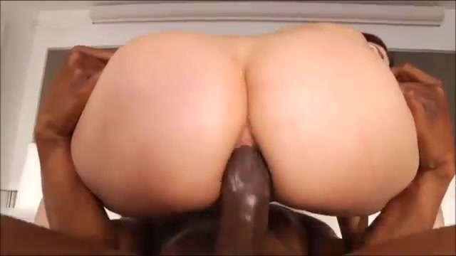 Valentina Nappi static with black cock from behind