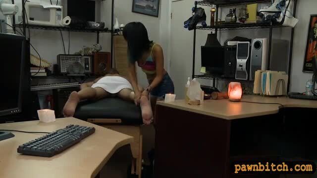 Asian babe fucked by nasty pawn keeper
