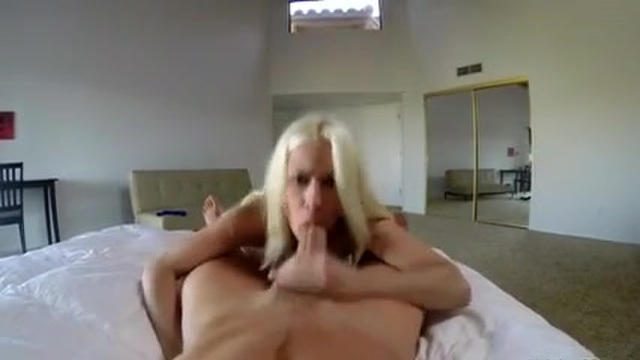 A blonde bombshell gets fucked in POV