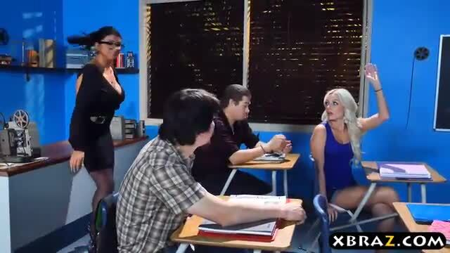 Real milf teacher and student